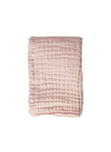 Mies & co Soft mousseline baby rib blanket baby pink 70x100