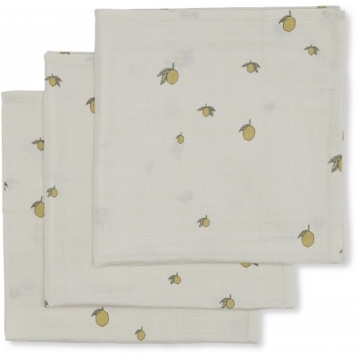 Konges slojd 3-pck hydrofiele doeken lemon