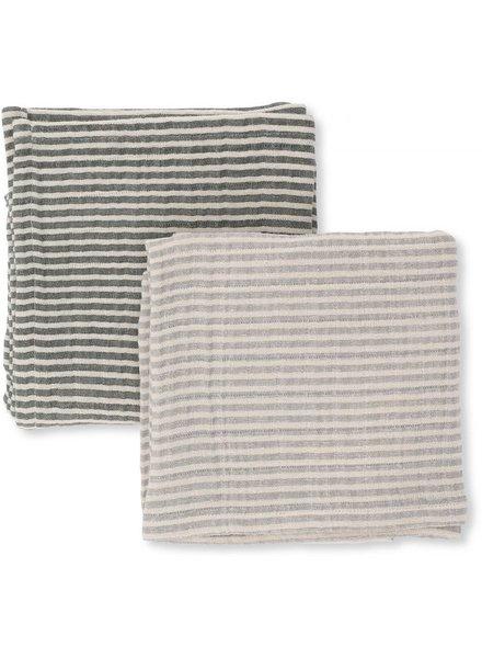 Konges slojd Muslin Cloth Striped 2 Pack