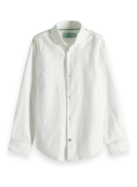 Scotch & Soda Witte blouse slim fit 149304