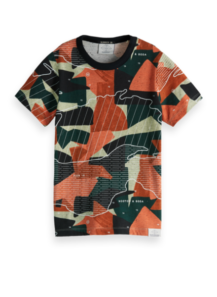 Scotch & Soda Tshirt 150841 all over print