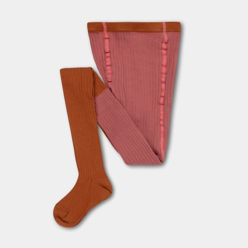 repose Tights rose apricot color block