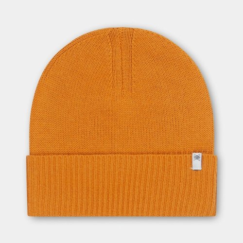 repose Knitted hat warm yellow