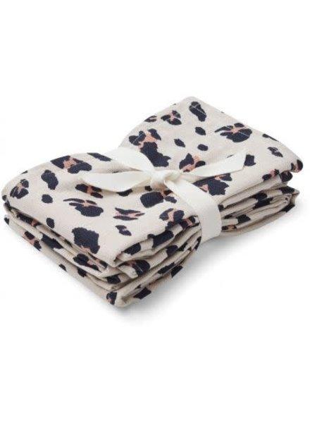 Liewood Muslin cloth 2 pck leo beige