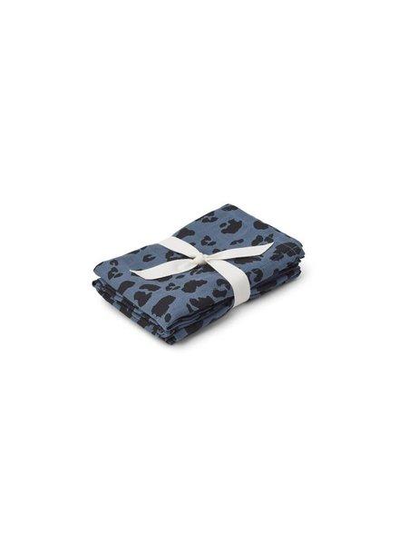 Liewood Muslin cloth 2 pck blue
