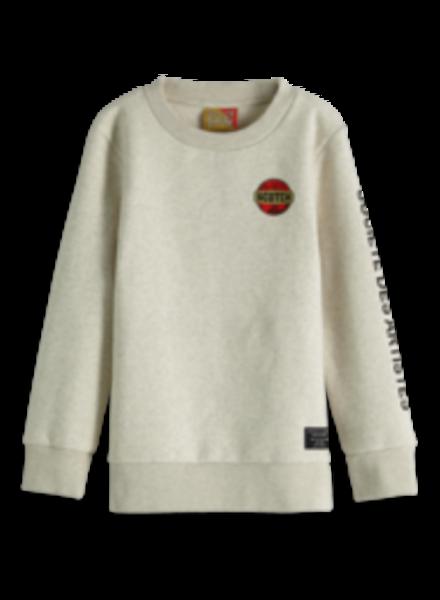 Scotch & Soda Grijs gemeleerde sweater 151427