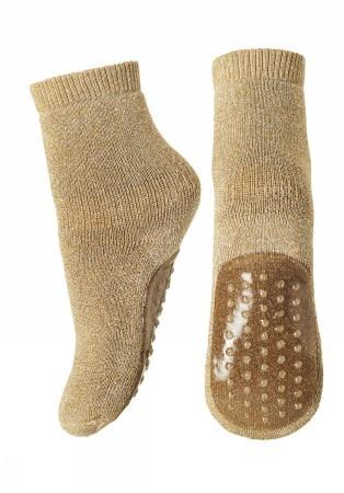MP Denmark Antislip sokken goud glitter