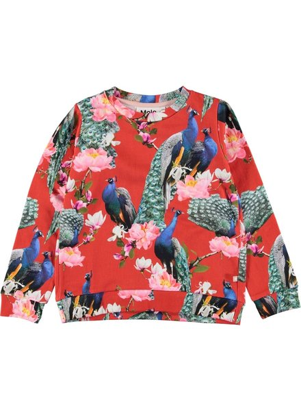 Molo Marlee red peacock sweater