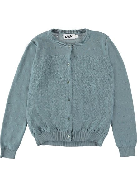 Molo Georgina cardigan misty blue