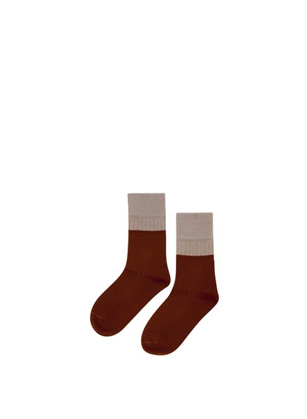 mingo SocksTaupe/ Bitter Chocolate