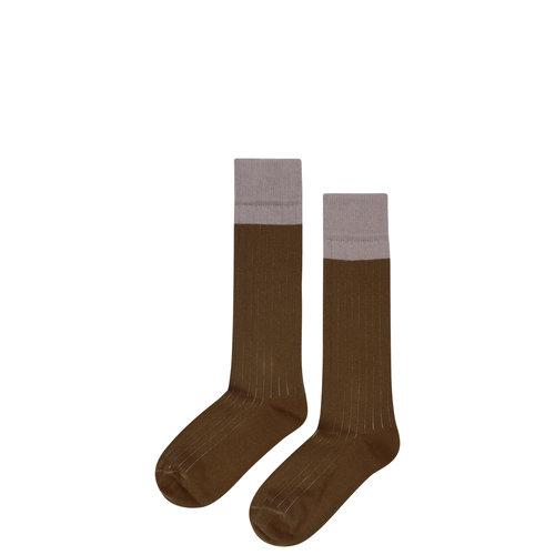 mingo Knee socks taupe/ kangaroo