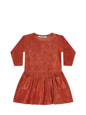 mingo Dress red wood velvet