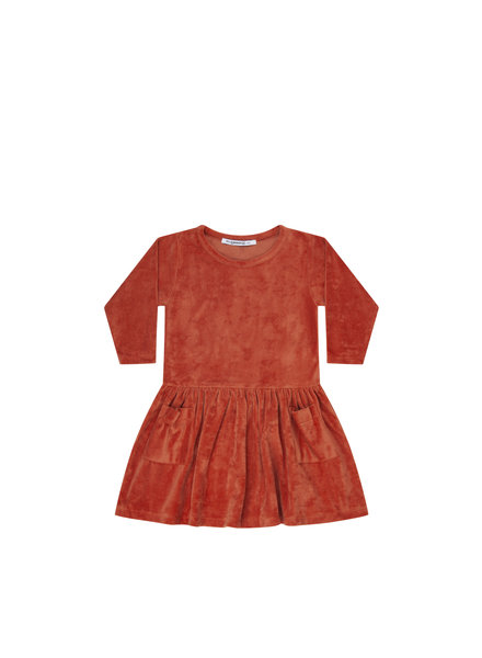 mingo Dress red wood velvet