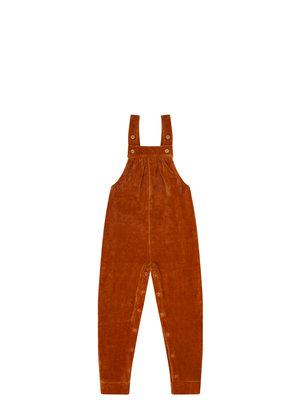 mingo Salopette leather Brown velvet rib