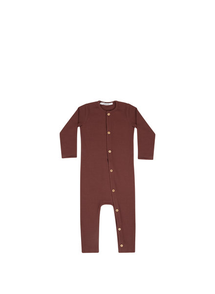 mingo Play suit	Bitter Chocolate rib jersey