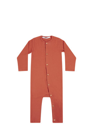 mingo Play suit	Red Wood rib jersey