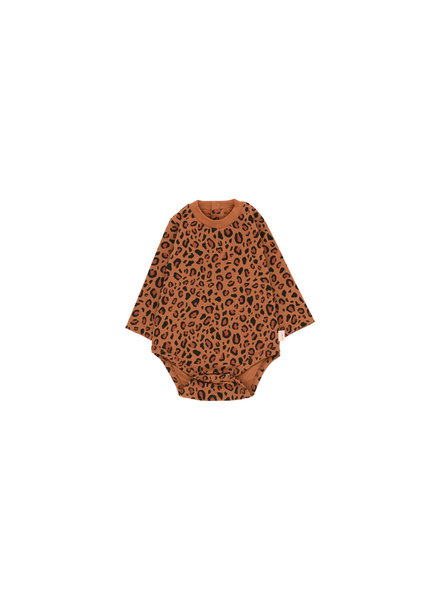 Tiny cottons ANIMAL PRINT LS BODY brown/dark brown