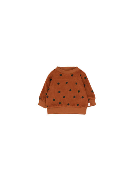 Tiny cottons SMALL APPLES SWEATSHIRT brown/bottle green