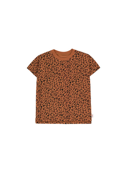 Tiny cottons ANIMAL PRINT SS TEE brown/dark brown