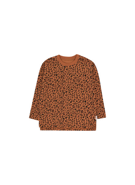 Tiny cottons ANIMAL PRINT LS TEE brown/dark brown