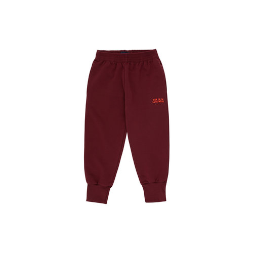 Tiny cottons LUCKYWOOD SIGN SWEATPANT aubergine/red