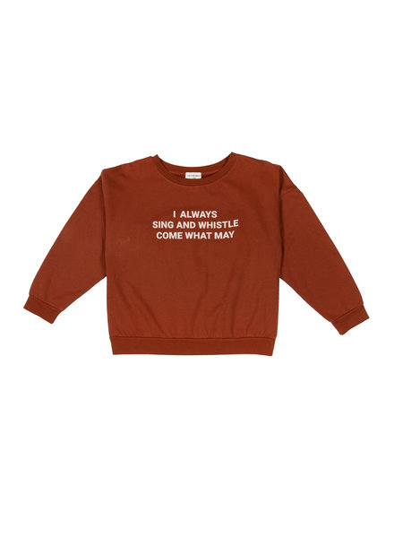 The Campamento BROWN SING AND WHISTLE SWEATSHIRT