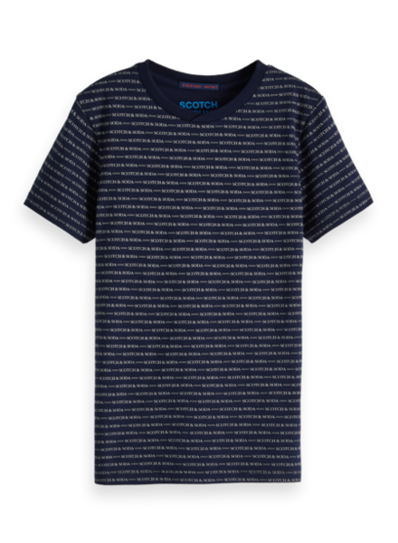 Scotch & Soda Tshirt donkerblauw
