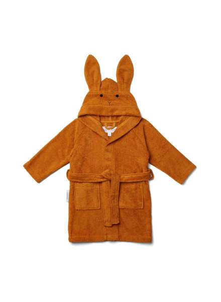 Liewood Lily bathrobe rabbit mustard size 1-2