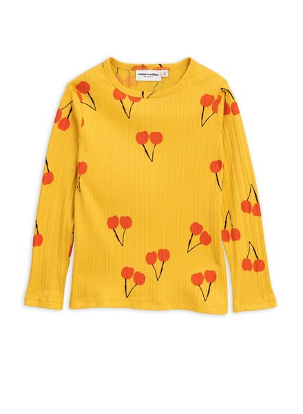 Mini rodini Cherry ls tee yellow