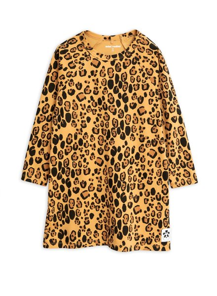 Mini rodini Basic leopard ls dress tencel