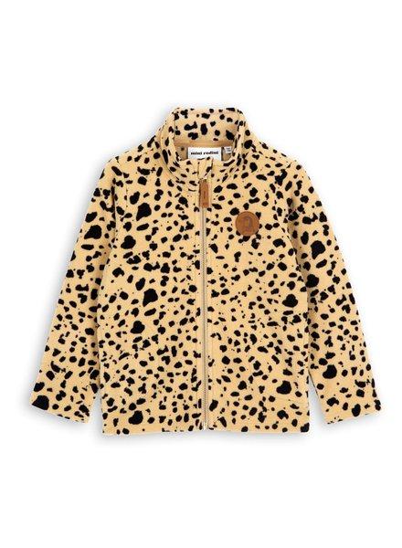 Mini rodini Fleece jacket beige leopard