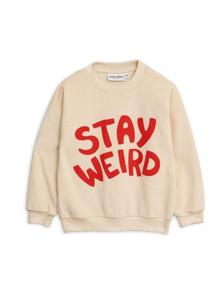 Mini rodini Stay weird sp terry sweatshirt off white/red
