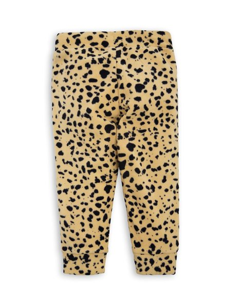 Mini rodini Fleece trousers beige leopard