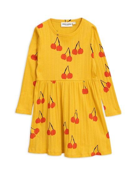 Mini rodini Cherry ls dress yellow