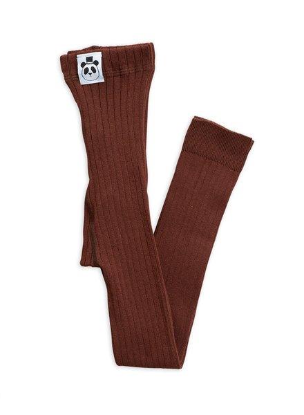 Mini rodini Ribbed leggings brown