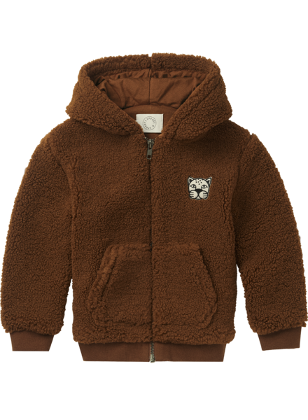 Sproet&Sprout Hooded jacket Terry bruin