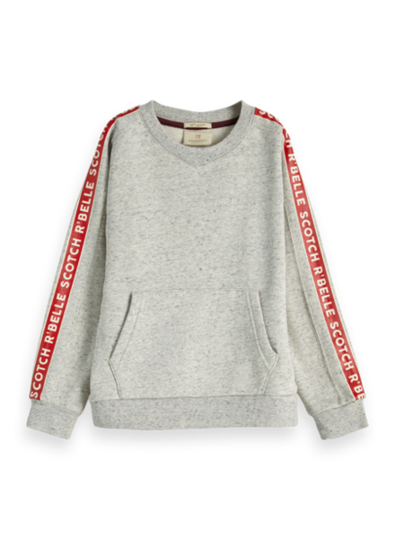 Scotch & Soda Crew neck with printed tape detail 151675