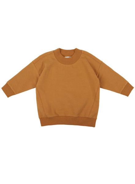 Phil &Phae Oversized rib-neck sweater gold ochre