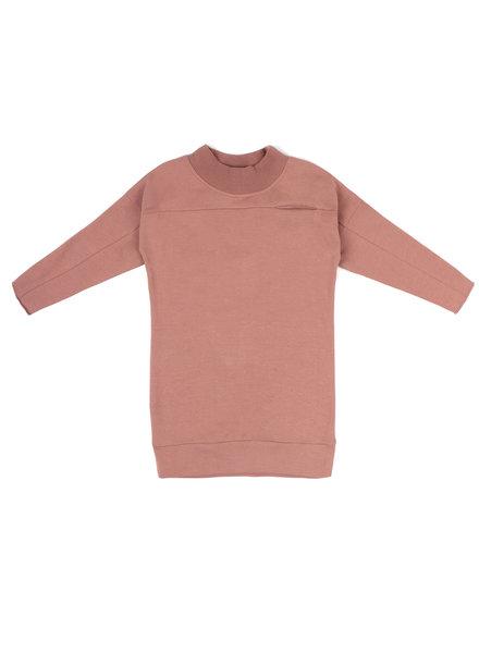 Phil &Phae Rib-neck sweater dress dusty blush