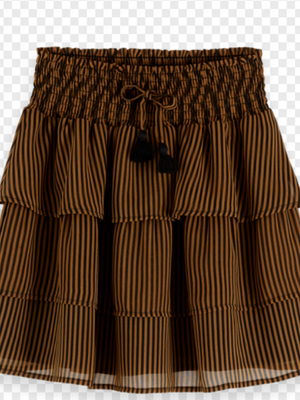 Scotch & Soda all-over printed ruffle skirt with smocked waistband