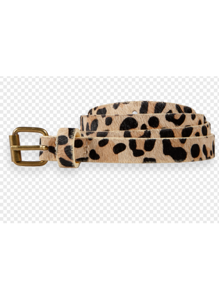 Scotch & Soda leather belt with all over animal print