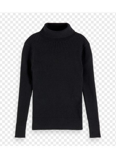 Scotch & Soda turtle neck rib knit pull