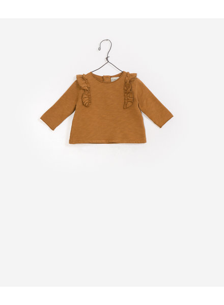 Play Up Sweater oker met roezel 2AF10902