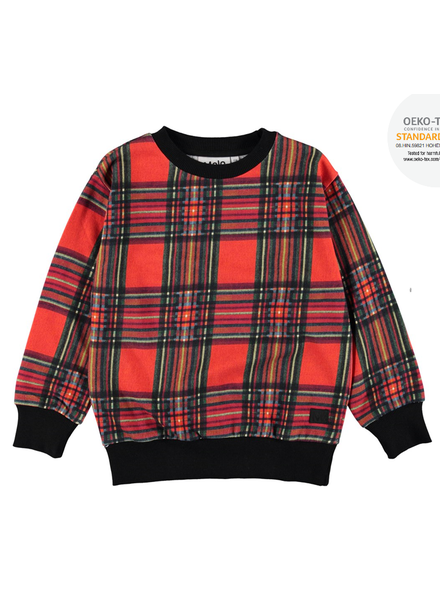 Molo mik red check sweater