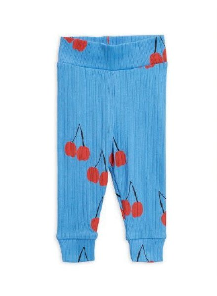 Mini rodini Cherry nb leggings blue