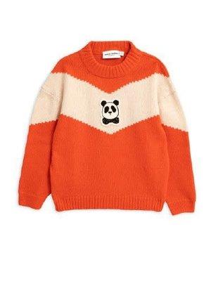 Mini rodini Panda knitted wool sweater