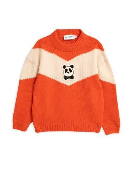 Mini rodini Panda knitted wool sweater