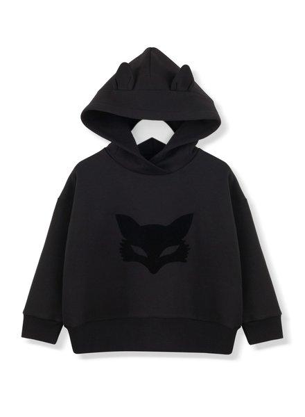 Kids on the moon Black fox mask hoodie AW19/40