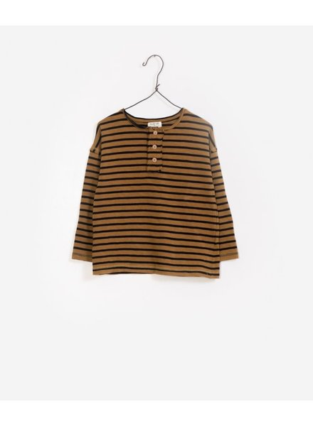 Play Up Striped jersey sweater okerbruin/zwart