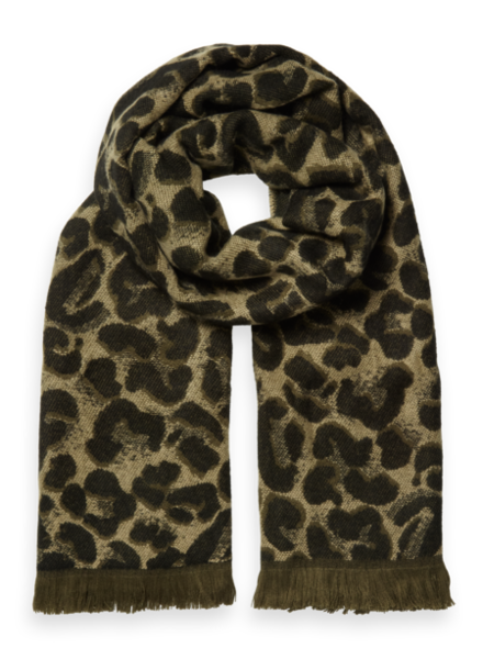 Scotch & Soda Oversized leopard scarf